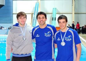 Matías Grimal, Ariel Iotov y Federico Nogueiras, felices por los nuevos logros del CIAA.