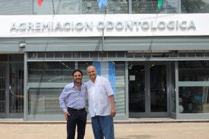 Mincarelli y Ramos Mexía, presidentes saliente y entrante de la AOB, respectivamente