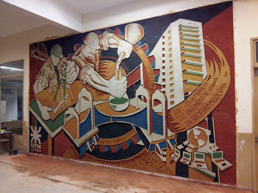 Mural en homenaje a la Ingeniería | Semanario El Mundo de Berisso